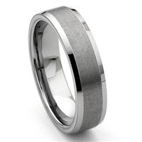 CORSAL Tungsten Carbide Satin Men's Wedding Ring