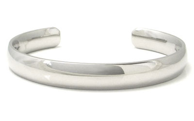 Titanium 10MM High Polish Dome Cuff Bangle