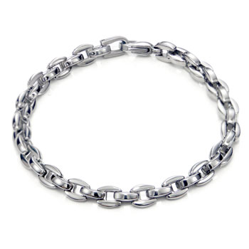 Titanium Men's 5MM Oval Link Bracelet