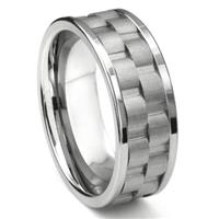 Tungsten Carbide 9MM Double Coinedge Wedding Band Ring